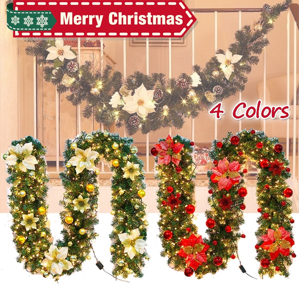 New Luxury Christmas Decorations Christmas Garland Rattan With