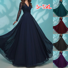 Plus Size, Lace, chiffon, chiffon dress