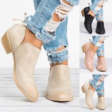 casual shoes, Fashion, thickheel, Single shoes