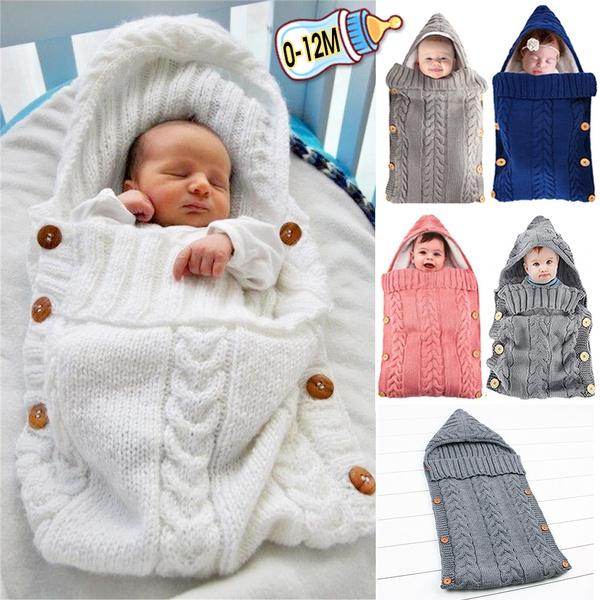 Newborn Baby Infant Toddler Blanket Swaddle Stroller Wrap Sleeping Bag Sleepsack