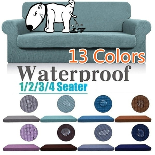 Brilliant 2019 New Hot Sale 1 4 Seat 13 Color Solid Color Waterproof Sofa Cushion Set Plaid Fleece Sofa Cushion Cover Furniture Fabric Cushion Super Elastic Inzonedesignstudio Interior Chair Design Inzonedesignstudiocom