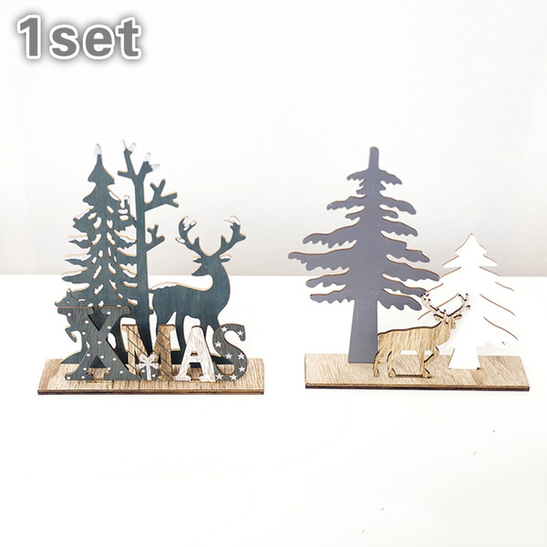 New Home Ornament 2020.2020 New Home Garden Kids Favors Decorative Supplies Wooden Crafts Christmas Tree Xmas Ornament Elk