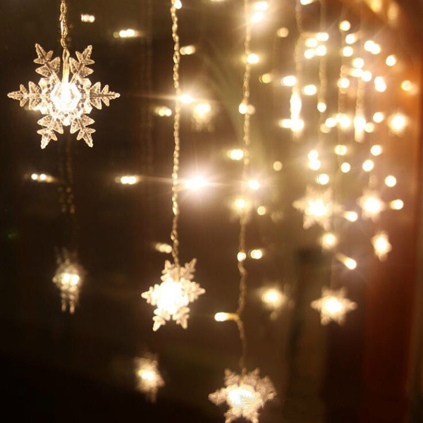 String Lights Christmas Snowflake Led Snow Tree Decorations 1 5m 10 Or 3m 20 6m 40
