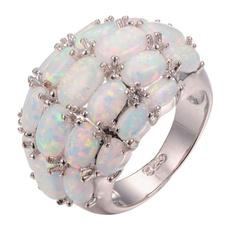 Sterling, DIAMOND, wedding ring, Silver Ring
