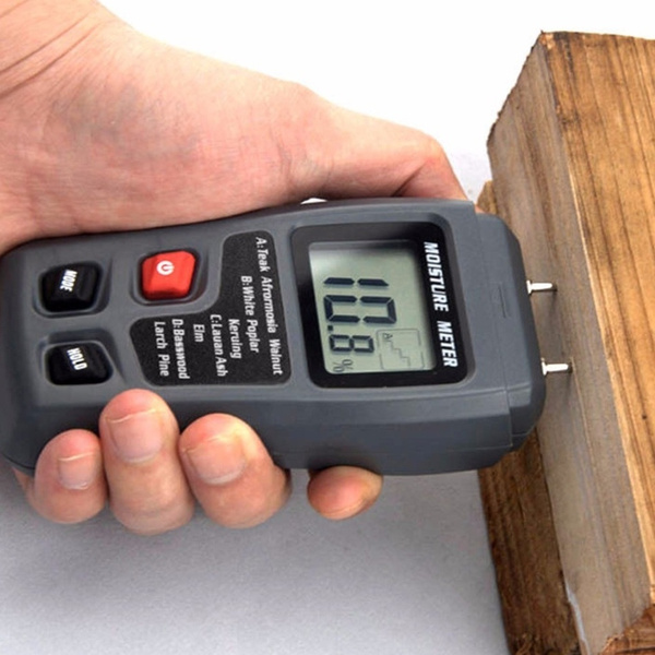 2 Pins Probes Wood Moisture Meter Humidity Tester Detector Timber Damp
