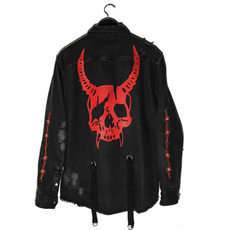 suspenders, Jacket, Fashion, skullprint
