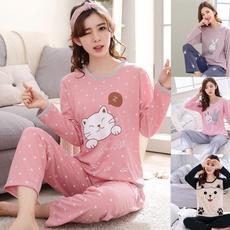pajamaset, Manga, womanpajama, Long Sleeve