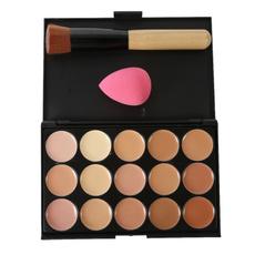 15color, Beauty Makeup, withbrushandsponge, foundation makeup