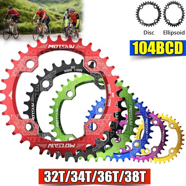 Bicycle Crank Round 104BCD 32//34//36//38T Chainring MTB Bike Chainwheel Circle