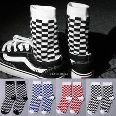 Hip Hop, checkered, Cotton Socks, Winter