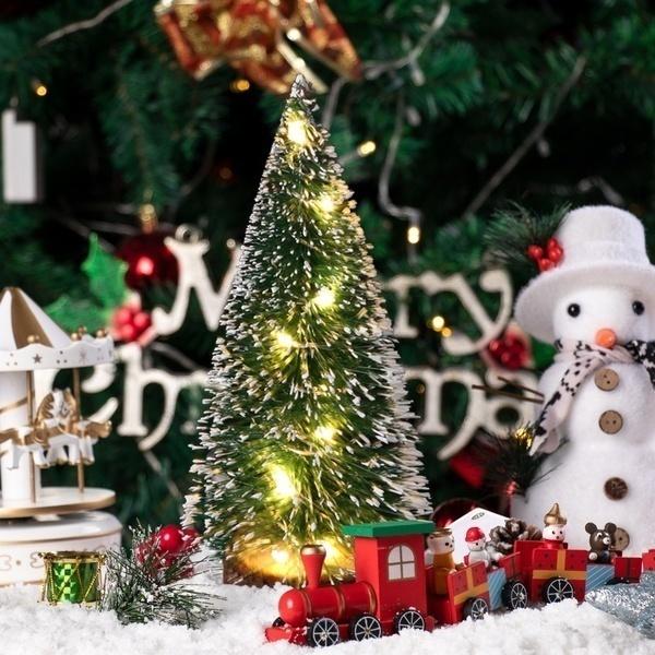1pc Led Light Mini Artificial Christmas