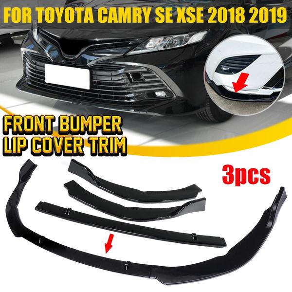 Auto Car Front Bumper Lip Cover Trim Fit Toyota Camry 2018 SE//XSE Gloss Black US