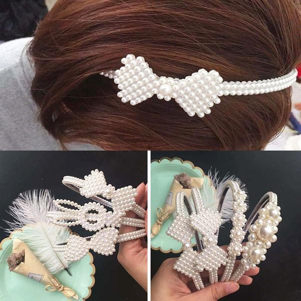 Fashion, Hair Band, pearlheadband, Women's Fashion
