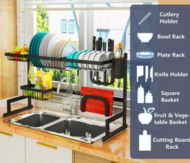 kitchenstoragerack, utensilsholder, Kitchen & Dining, doubleslotbracket
