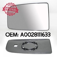 New LHS Door Wing Silver Mirror Heated Clip On Glass For Hyundai Getz New