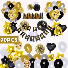 partydecorballoon, blackandgoldballoon, latex, birthdaypartydecoration