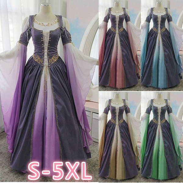 Women Victorian Style Dress Elegant Dresses for Women Plus Size Vintage  Gothic Medieval Dress Gothic Maxi Dress Cosplay Dress Retro Long Gown Dress  ...