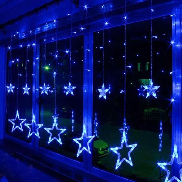 starstringledlightlamp, Star, Christmas, lights