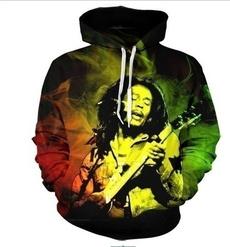 3D hoodies, Fashion, bobmarley, Sleeve