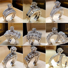 Sterling, White Gold, DIAMOND, wedding ring