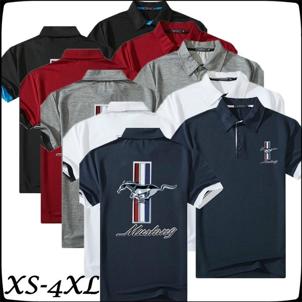 Fashion Mens Summer Slim Fit Shirt Tees Lapel Short Sleeve Blouse Sports T-Shirt