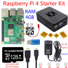 raspberrypi4b, starterkit, Aluminum, raspberrypi4