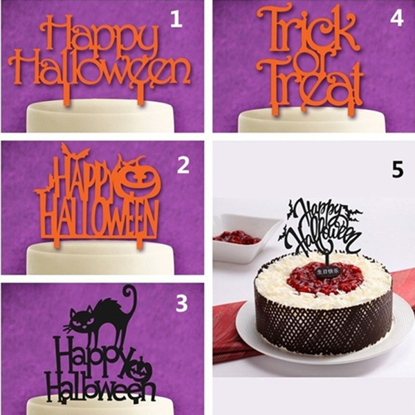 Acrylic Happy Topper Cake Halloween Cake Decorations For Halloween