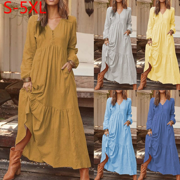 Plus Size, Winter, long dress, Dress