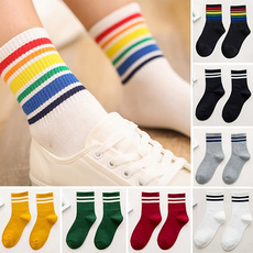 cute, womensock, Cotton, rainbow