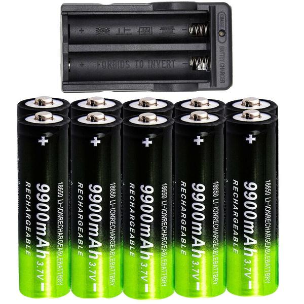 10 PCS 5800mAh,18mm x 65 mm,Button Top,Li-ion 3.7V 18650-Rechargeable-Batteries For 18650 Flashlight Headlamp