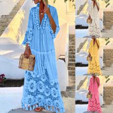 Summer, Tassels, Plus Size, Lace