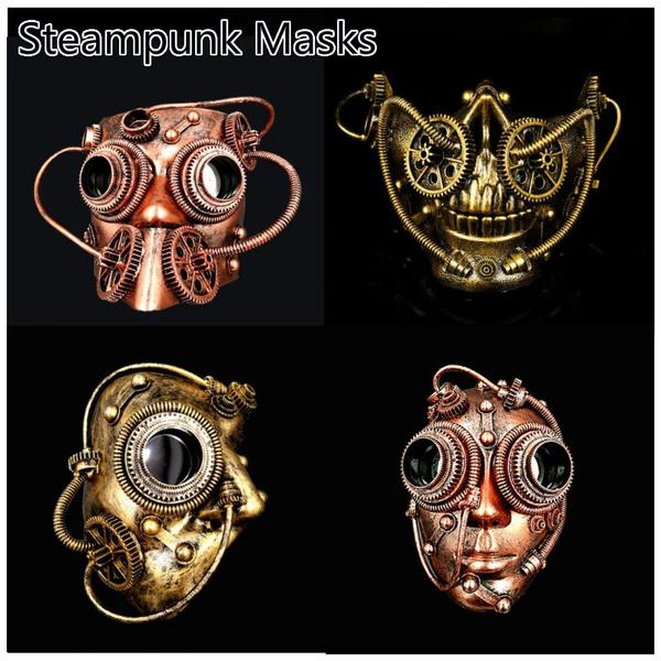Mechanical Phantom Steampunk Masquerade Mask