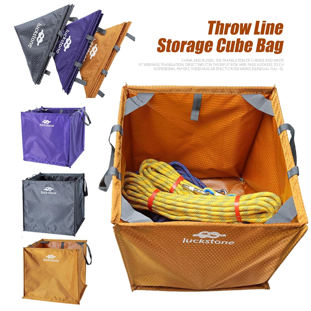 Portable Rock Tree Climbing Throw Line Weight Rope Cord Deploy Cube Bag 39cm