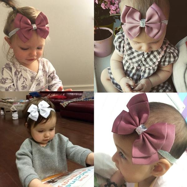 Kid Girl Baby Toddler Infant Flower Bow Ribbon Headband Hairband Headwear Turban