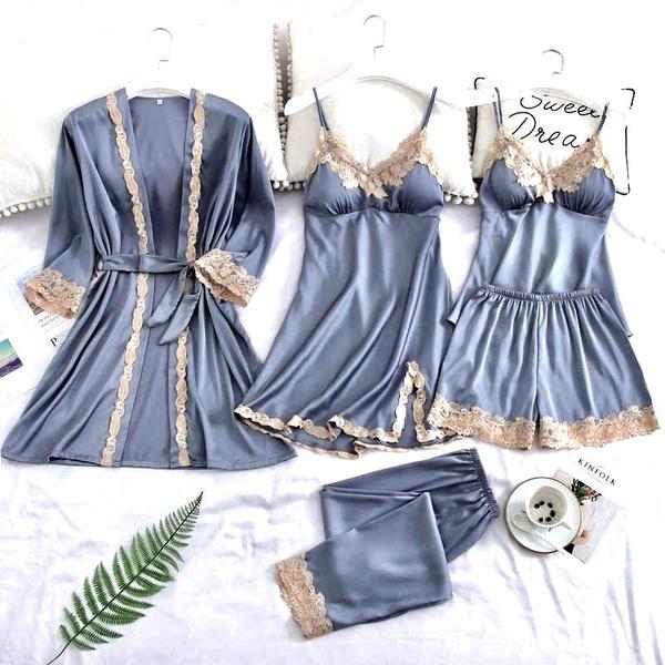 silkpajama, satinnightgown, womensatinpj, Women's Fashion