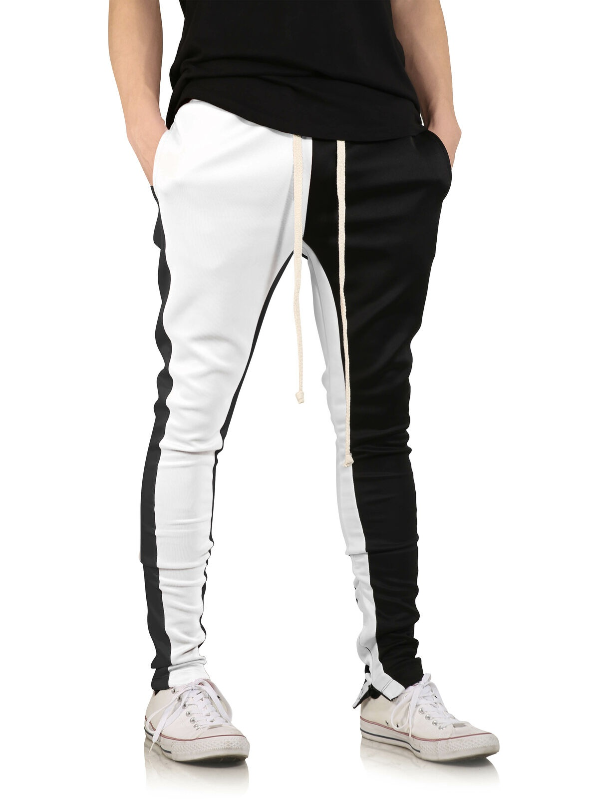 Men's Fashion Casual Sweatpants, Hip Hop Fitness Stitching Trousers