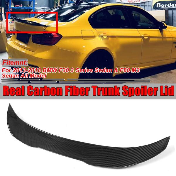 Carbon Fiber Trunk Spoiler F/ür 2013-2018 3-Series F30 und F80 M3-High Kick Style