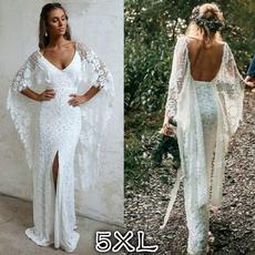 Plus Size, Lace, long dress, Evening Dress