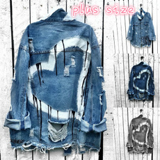 jacketforwomen, ripped, heartprint, Jacket