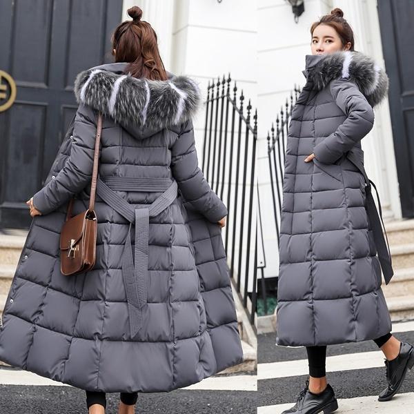 Down Jacket, Fashion, Winter, Long Coat