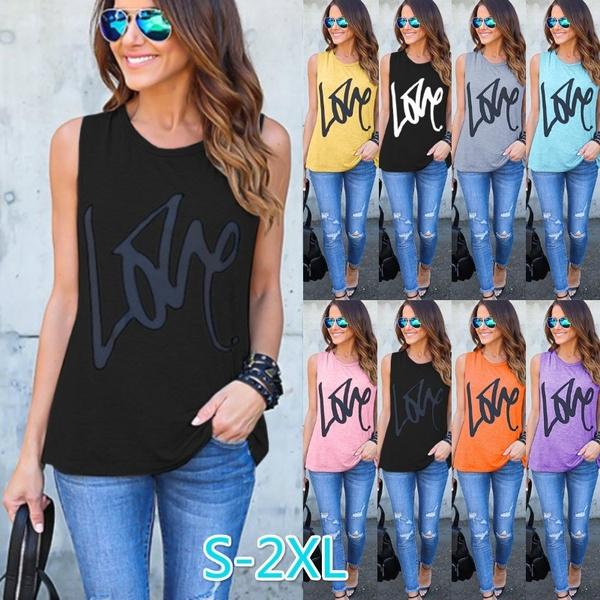 blouse, Summer, Printed T Shirts, Love