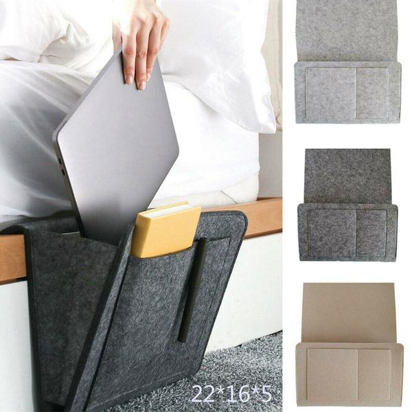 1 Pcs Felt Bedside Sofa Storage Bag