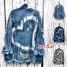 jacketforwomen, ripped, heartprint, Jacket