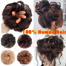 Beauty Makeup, scrunchie, human hair, Hair Extensions