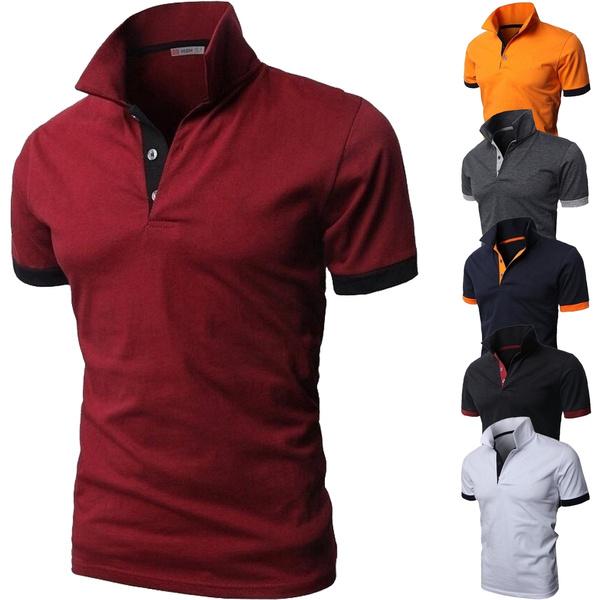 Summer, polo men, Polo Shirts, Sports & Outdoors