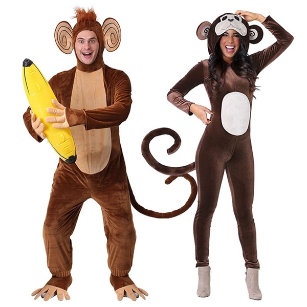 Unisex Adult Pajamas Plush Onesie Animal Cosplay Halloween Costume Gifts