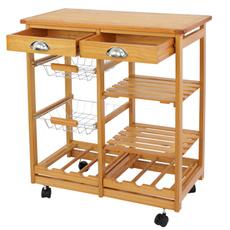 trolley, Wood, Kitchen & Dining, Kitchen & Home