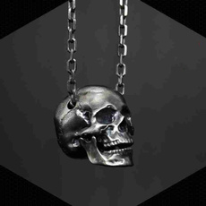 Steel, skullnecklace, Stainless Steel, punk necklace