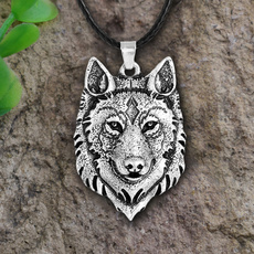 Head, mens necklaces, Jewelry, wolfheadnecklace