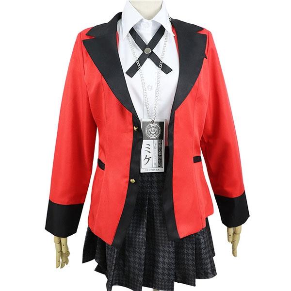 New Kakegurui Jabami Yumeko School Girls Uniform Full Set Cosplay Costume Dress